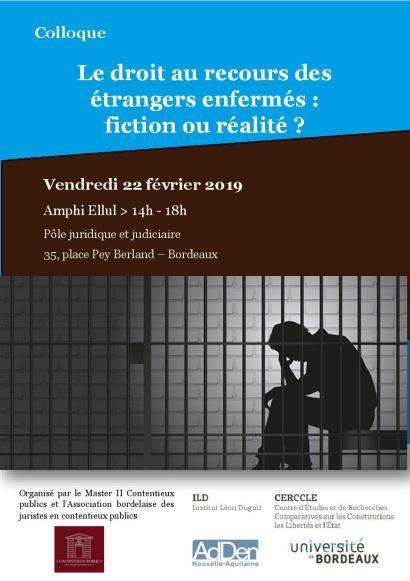 Le droit au recours des étrangers enfermés - Programme page 1