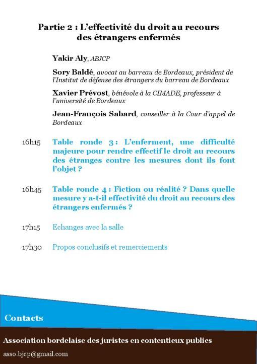 Le droit au recours des étrangers enfermés - Programme page 4